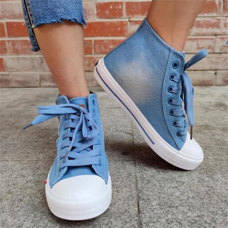 ladies-blue-denim-flat-lace-up-round-toe (2)