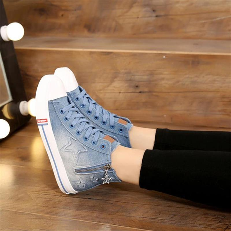 ladies-blue-denim-flat-lace-up-round-toe (3)
