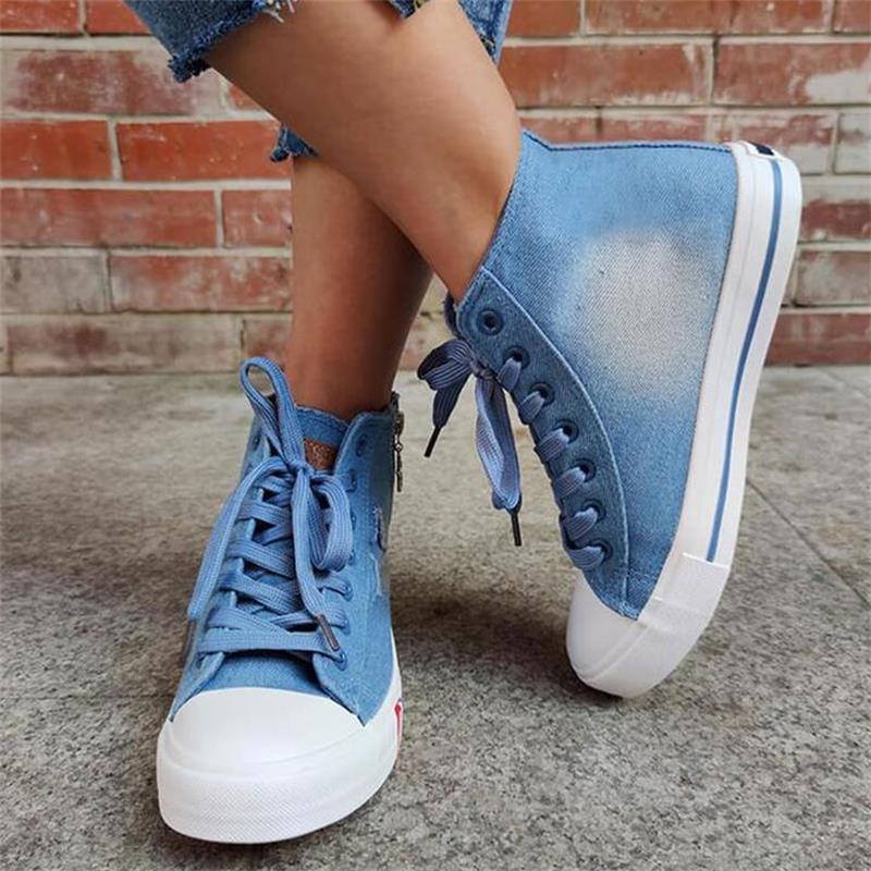 ladies-blue-denim-flat-lace-up-round-toe (1)