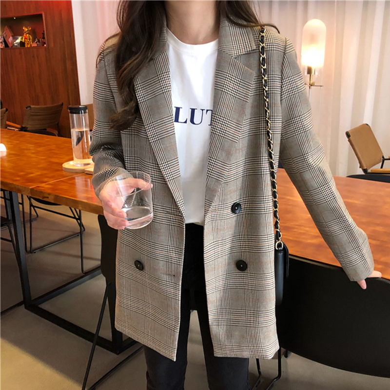 Office-Ladies-Notched-Collar-Plaid-Women-Blazer-Double-Breasted-Autumn-Jacket-2020-Casual-Pockets-Fe (1)