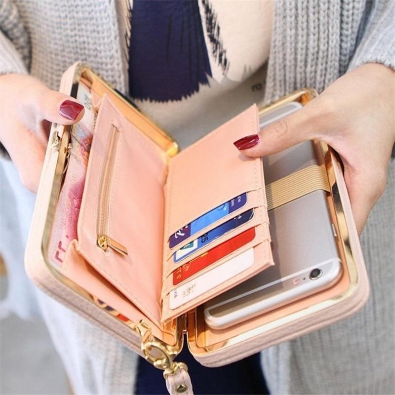 Wallet-Female-Women-s-Wallet-Snap-Coin-Purse-Phone-Bag-Bow-Multi-card-Bit-Card-Holder