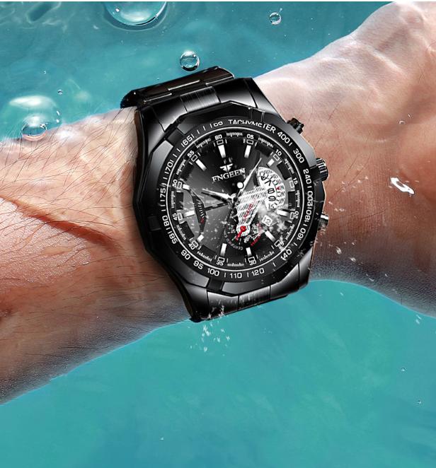 芬尊男士钢带手表2