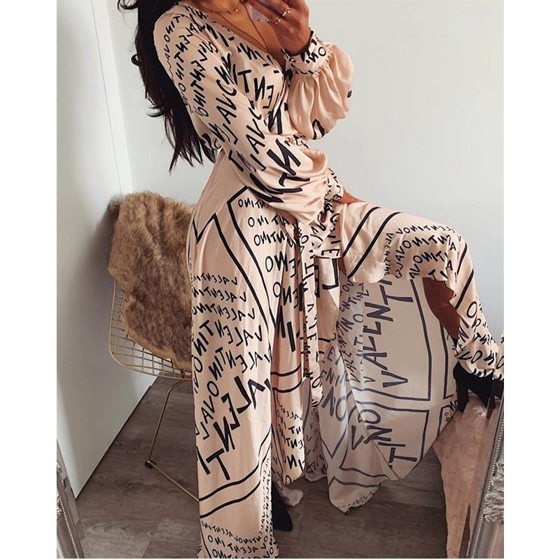 Women-Spring-Summer-Autumn-Dress-2019-Letter-Print-Boho-V-neck-Long-Dress-Slit-Maxi-Dress (2)