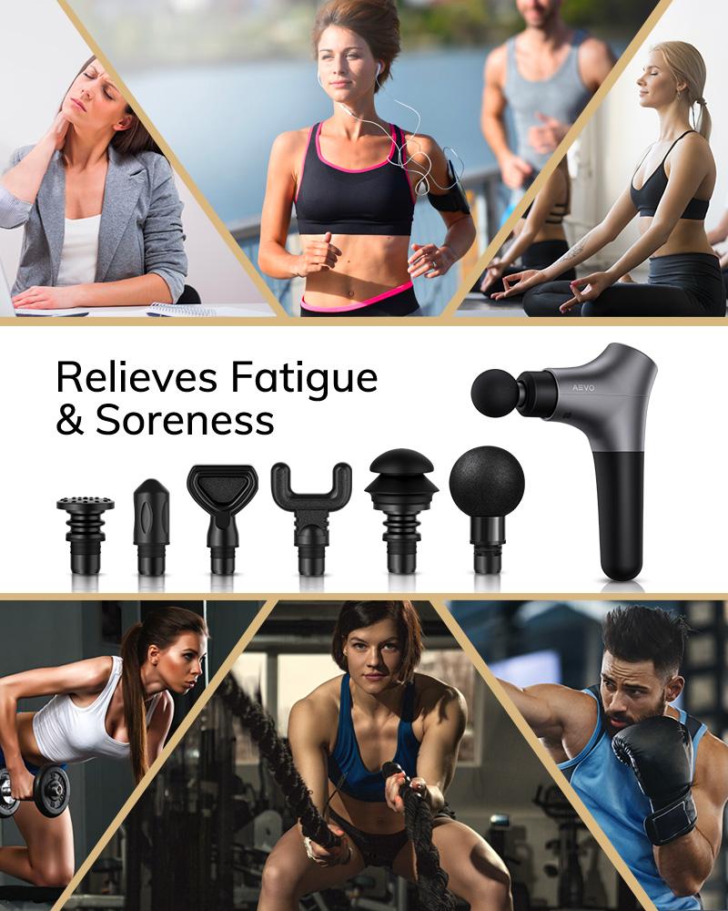 AEVO Muscle Massage Gun Deep Tissue Relief Portable ...