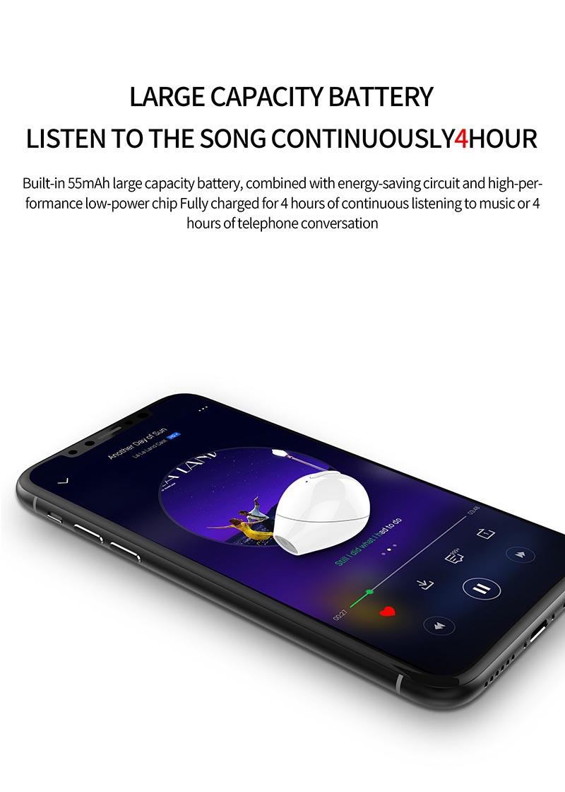 Nisheng SQR MINI X20 Wireless Earphone 12