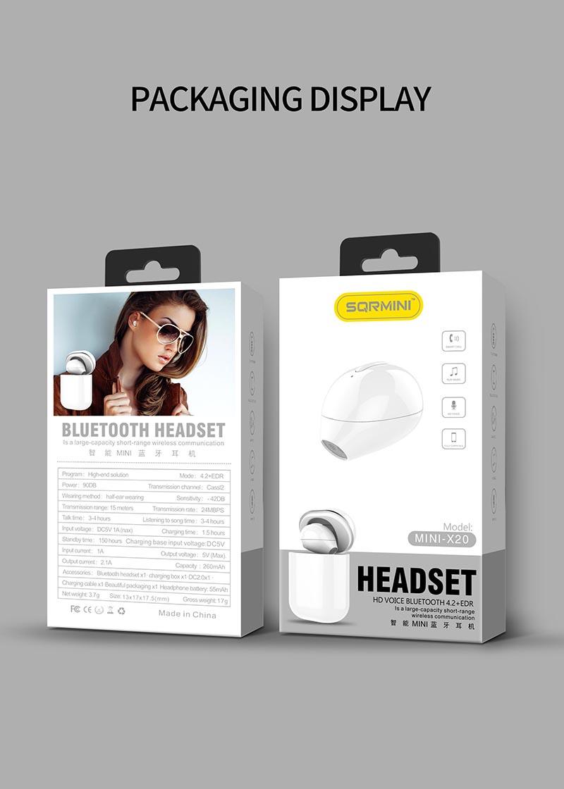 Nisheng SQR MINI X20 Wireless Earphone 17