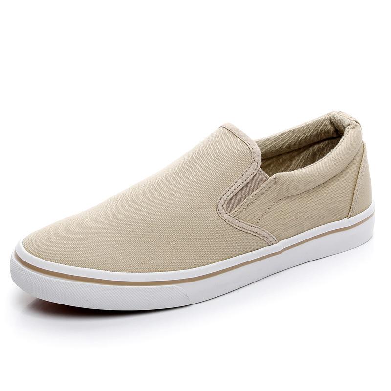 Men-039-s-Canvas-Sneakers-Classic-Black-Slip-On-Casual-Skool-Skate-Athletic-Shoes thumbnail 27
