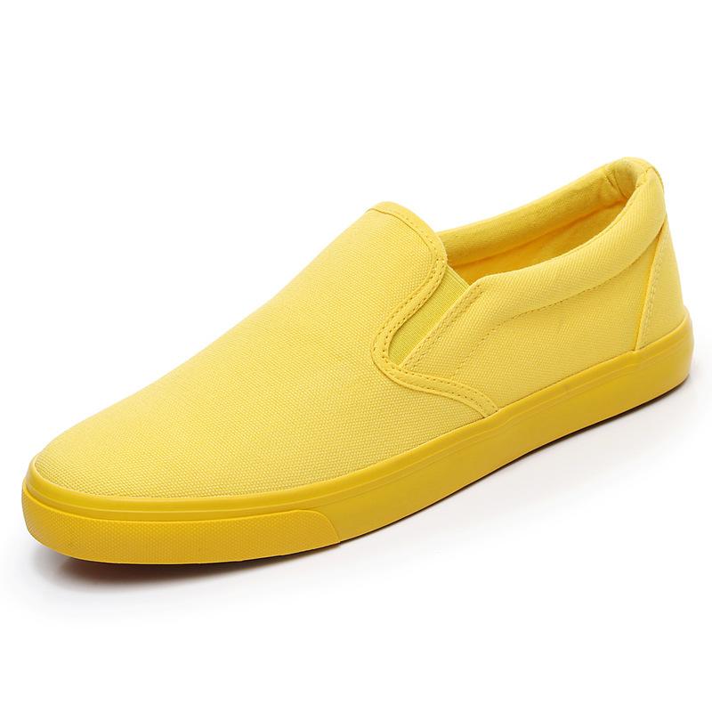 Men-039-s-Canvas-Sneakers-Classic-Black-Slip-On-Casual-Skool-Skate-Athletic-Shoes thumbnail 34
