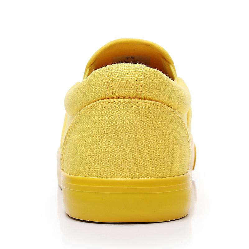 Men-039-s-Canvas-Sneakers-Classic-Black-Slip-On-Casual-Skool-Skate-Athletic-Shoes thumbnail 35