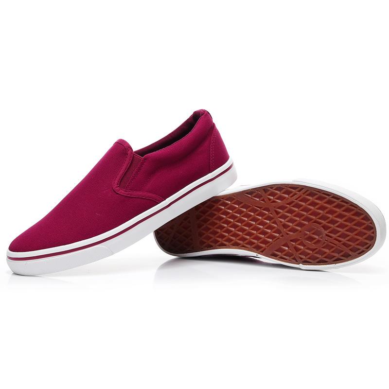 Men-039-s-Canvas-Sneakers-Classic-Black-Slip-On-Casual-Skool-Skate-Athletic-Shoes thumbnail 43