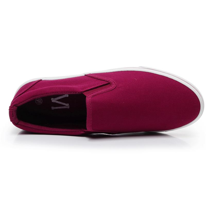 Men-039-s-Canvas-Sneakers-Classic-Black-Slip-On-Casual-Skool-Skate-Athletic-Shoes thumbnail 44