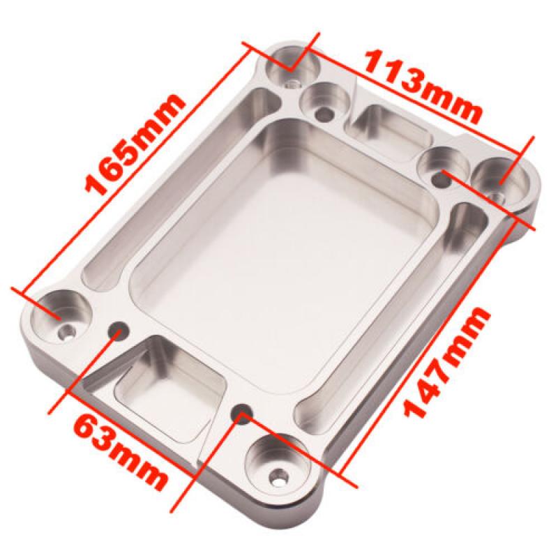 Aluminum-Billet-Shifter-Box-Base-Plate-For-Acura-Honda-Civic-K20-K24-Swap-94-01 thumbnail 3
