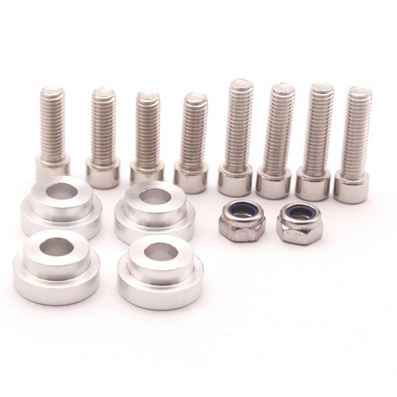 Aluminum-Billet-Shifter-Box-Base-Plate-For-Acura-Honda-Civic-K20-K24-Swap-94-01 thumbnail 6