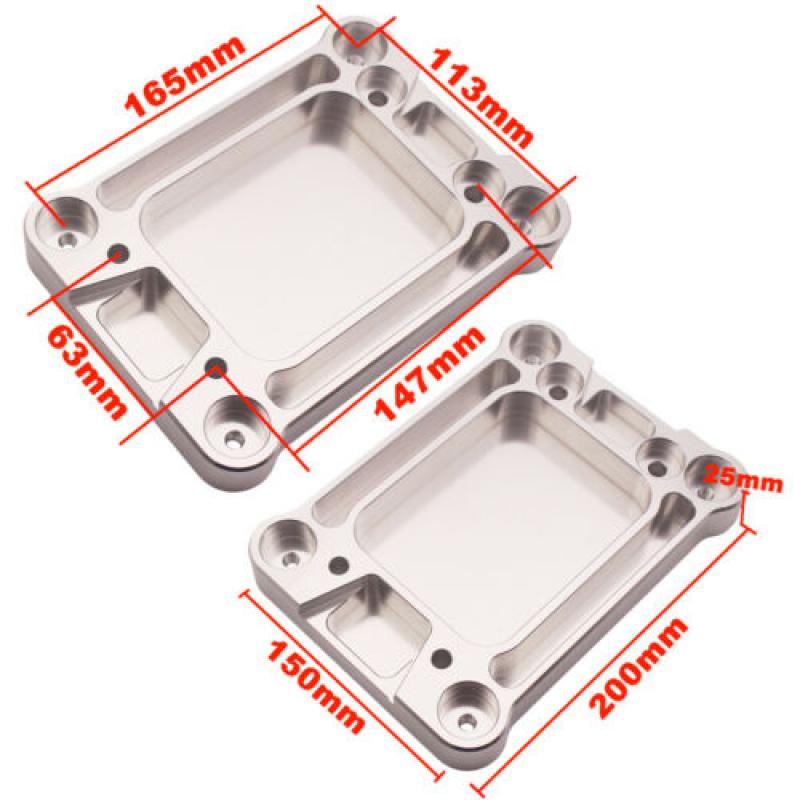 Aluminum-Billet-Shifter-Box-Base-Plate-For-Acura-Honda-Civic-K20-K24-Swap-94-01 thumbnail 4